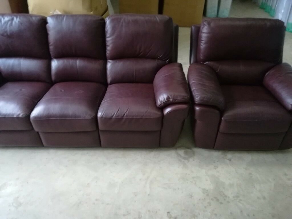 Amazing Second Hand All Reclining Leather Suite In Omagh County Tyrone Gumtree Gmtry Best Dining Table And Chair Ideas Images Gmtryco