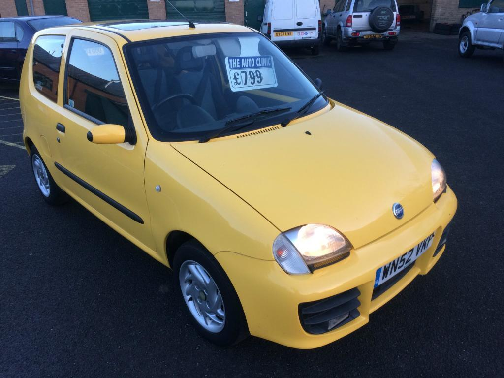 2002 Fiat Seicento 1.1 Sporting Yellow Low Miles Long MOT History Lady Owner  STUNNING