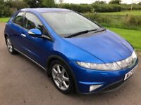 Dec 2006 Honda Civic 2.2 SPORT I-CTDI 140BHP FSH 1yrs Mot 6mth warranty
