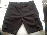 Arco Cargo Work Shorts Black & Navy 32ins Waist Regular Fit Combat Shorts Hard Wearing Brand New