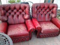 Stunning Vintage Chesterfield Armchairs x 2