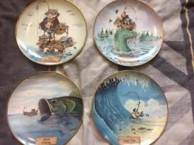 Danbury Mint fishing platesx12