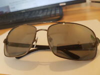 BVLGARI MEN'S AVIATOR POLARIZED SUNGLASSES
