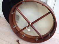 hardwood tunable bodrhun drum