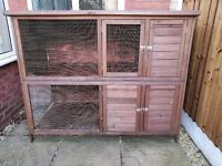 Two tier rabbit hutch