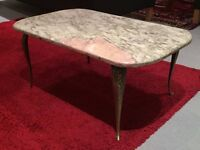 Antique French Coffee Table - Marble top broken