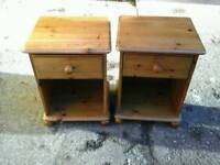 Pair of pine bedside units in grear condition