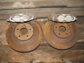 Impreza 4 Pot Front Brake Calipers With Discs & Pads