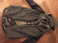 Boys size 11 yrs Khaki hooded parker - as new