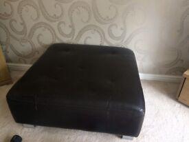 Brown leather corner sofa for sale. £250 ono