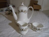 Royal Standard coffee pot, milk jug and sugar bowel