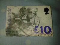 BRITISH £10.00 POSTAGE STAMP