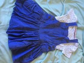Dress/ t shirt set. Age 3-4 years. Blue. M&S