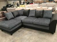 New grey corner metal action corner sofa bed