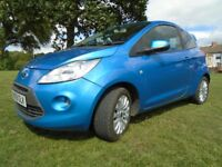 FORD KA ZETEC SPORT 2009, FULL SERVICE HISTORY, 1 OWNER, £30 TAX