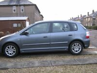 5 DOOR HONDA CIVIC, 1 PREV OWNER, S.HISTORY, GOOD OVERAL CON INSIDE & OUT, WELL LOOKED AFTER,