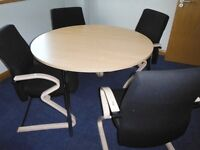 Office meeting room table and 4 chairs