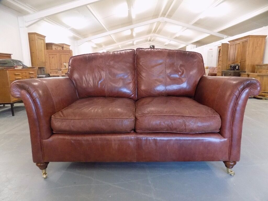 Beautiful Derwent Westbury Parker Knoll 2 Seater Leather Sofa