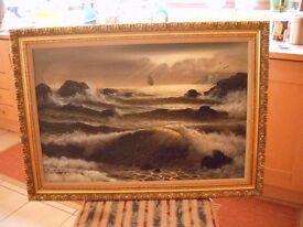 Oil painting classic large by Campbell buyer collects or arranges transport