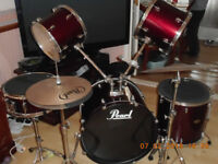 Pearl DRUM kit with silencers