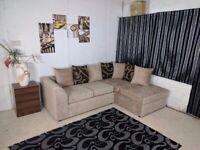 ❤️❤️Barcelona Sofa Range Corner sofa, 3+2+1 + footstool (Grey, Choclate, Mink, Black)❤️❤️