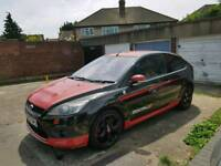 Ford focus st rep 2008 black and red glitter body work (**spares or repairs**)