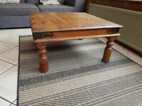 Solid wood coffee table - 80cmx80cm by 40cm high