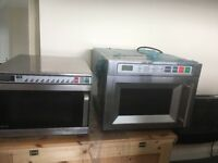 3 catering microwaves 1 used 1 used but like new and the 2 tier brand new unused