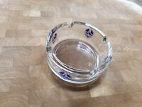 8 x Glass Ashtrays