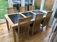Beautiful solid wood dining table with extension