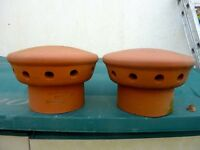 Clay chimney cowls