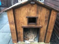 Solid wood dog kennel
