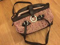 Coast pink and brown handbag