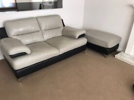 Corner sofa, two seater, single chair and footstool for sale