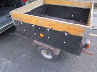 """""""""""REDUCED"""""""" TRAILER CAR TRAILER, IDEAL FOR CAMPING OR TIP RUNS"""