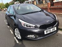 Kia Cee'd 2015 1.6 diesel auto 5 door not volkswagen golf polo honda civic jazz vauxhall corsa