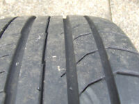 Like new! 2 X Continental ContiSportContact 5s, 255 / 35 / R18 94Y XL.