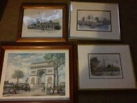 4x wall pictures various sizes all excellent condition