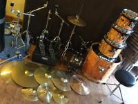 Tama drum kit ( drums cymbals snare )