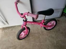 Pink Arrow Balance bike
