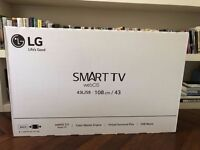 "Brand New 43"" LG Smart TV with webOS *sealed in box*"