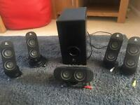 Logitech PC / gaming surround sound system with subwoofer