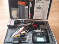 Rc Trex 250/ transmitter/case/plus extras