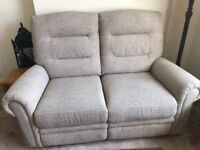 Electric reclining two seater settee as new