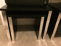 Tv stand with matching table nest