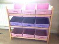 Kids pink / purple storage unit