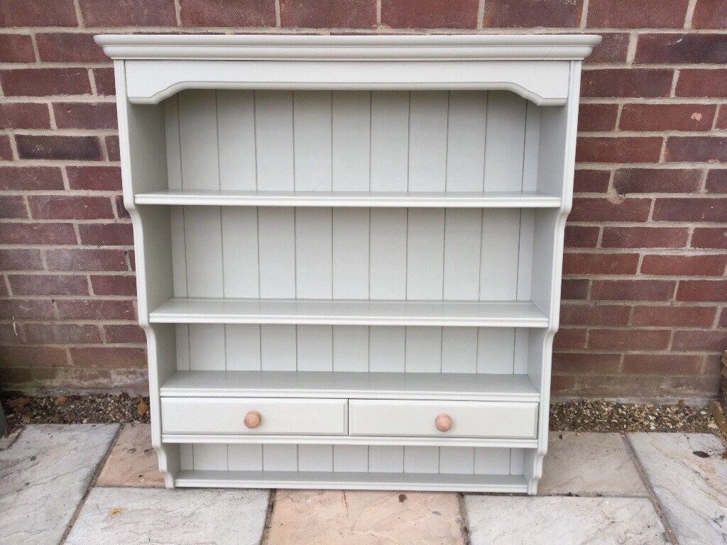 Country Cottage Style Painted Pine Wall Unit