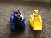 Mega blocks paw patrol cars