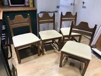 4x Dining room chairs