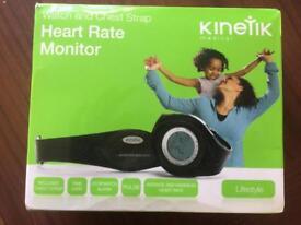 Kinetic heart rate monitor